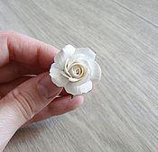 Украшения ручной работы. Ярмарка Мастеров - ручная работа Колечко с белой розой. Handmade.