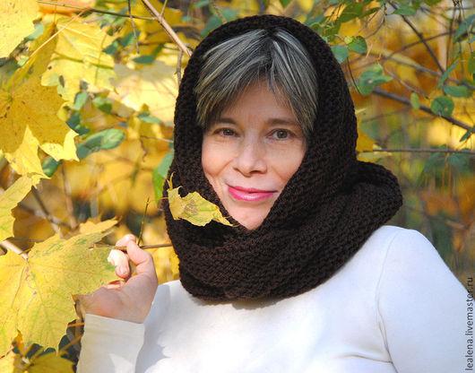 """Шали, палантины ручной работы. Ярмарка Мастеров - ручная работа. Купить Снуд-шарф """"Шоколад"""" (полушерсть). Handmade. Снуд"""