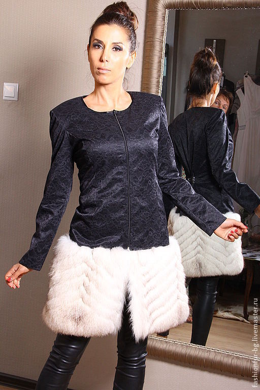 Верхняя одежда ручной работы. Ярмарка Мастеров - ручная работа. Купить пальто кружево и мех песца. Handmade. Однотонный, кружево