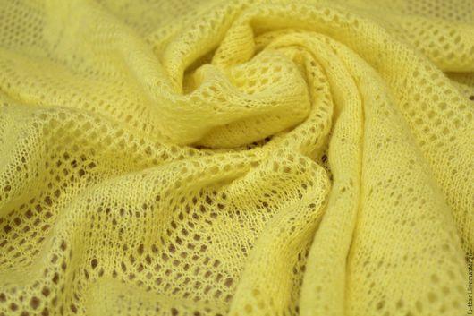 Шитье ручной работы. Ярмарка Мастеров - ручная работа. Купить Итальянский шерстяной ажурный трикотаж  3 цвета. Handmade. Желтый