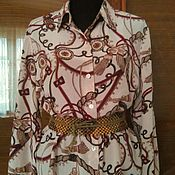 Одежда ручной работы. Ярмарка Мастеров - ручная работа шелковая блузка Kelly. Handmade.