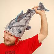 Аксессуары ручной работы. Ярмарка Мастеров - ручная работа шапка меня укусила акула. Handmade.