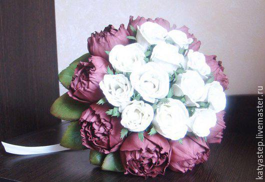 """Свадебные цветы ручной работы. Ярмарка Мастеров - ручная работа. Купить Букет невесты """"Шарм"""". Handmade. Комбинированный, пионы, свадьба"""