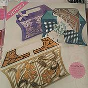 Материалы для творчества handmade. Livemaster - original item Peony Bloom and Bluebell Trellis Gift Bag Die Sets. Handmade.