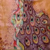 """Шарфы ручной работы. Ярмарка Мастеров - ручная работа Шелковый шарф """"Птица"""". Handmade."""