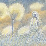 Картины и панно ручной работы. Ярмарка Мастеров - ручная работа Два Дерева и...  Картина пастелью.. Handmade.