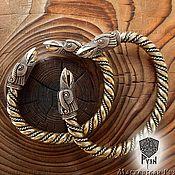 Украшения ручной работы. Ярмарка Мастеров - ручная работа Мужской браслет, браслет с вороном из бронзы, металлический браслет. Handmade.