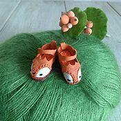 Материалы для творчества ручной работы. Ярмарка Мастеров - ручная работа Туфли для куклы Блайз лисички. Размер 24мм. Handmade.