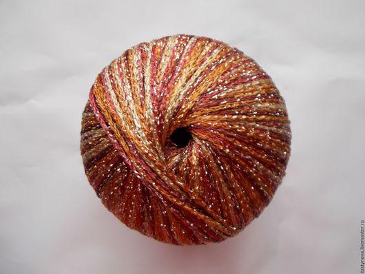 Вязание ручной работы. Ярмарка Мастеров - ручная работа. Купить Нарядная пряжа меланж с блестящей нитью. Handmade. Пряжа