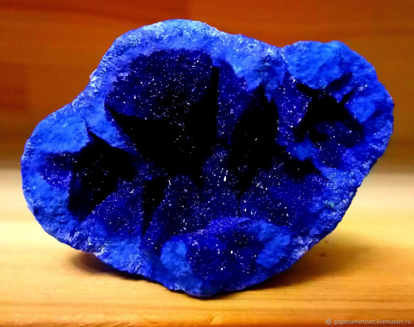 Azurite crystal (samples in the collection box) Miheevskoye, Minerals, St. Petersburg,  Фото №1