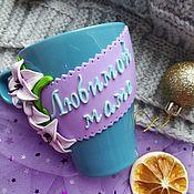 Кружки ручной работы. Ярмарка Мастеров - ручная работа Кружки: для мамы с лилиями. Handmade.