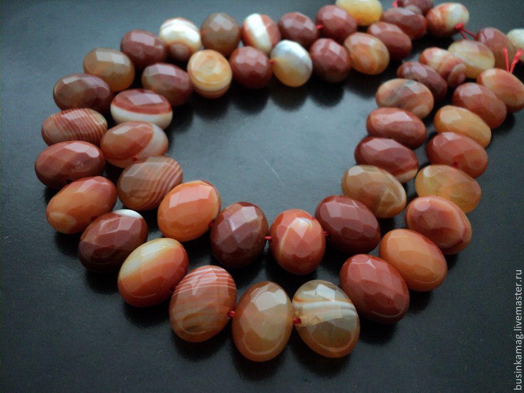 Agate natural large faceted beads 21mm, Beads1, Zheleznodorozhny,  Фото №1