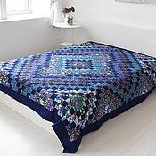 Для дома и интерьера handmade. Livemaster - original item Patchwork bedspread Blue a double (patchwork). Handmade.