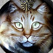"""Украшения ручной работы. Ярмарка Мастеров - ручная работа Кулон """"Мистический кот"""" 2. Handmade."""