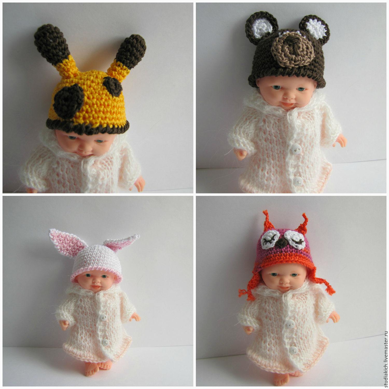 одежда для пупсов пупсиков маленьких кукол мишек шапки зверики