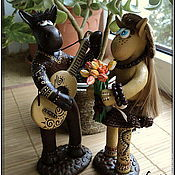 """Куклы и пупсы ручной работы. Ярмарка Мастеров - ручная работа Фигурки """"Влюбленные ослики"""". Handmade."""