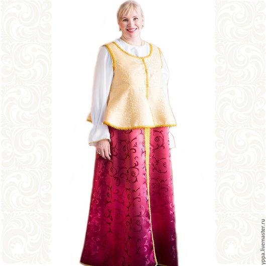 """Одежда ручной работы. Ярмарка Мастеров - ручная работа. Купить Сарафан для детей и взрослых """"Мила"""". Handmade. Тафта, сарафаны"""
