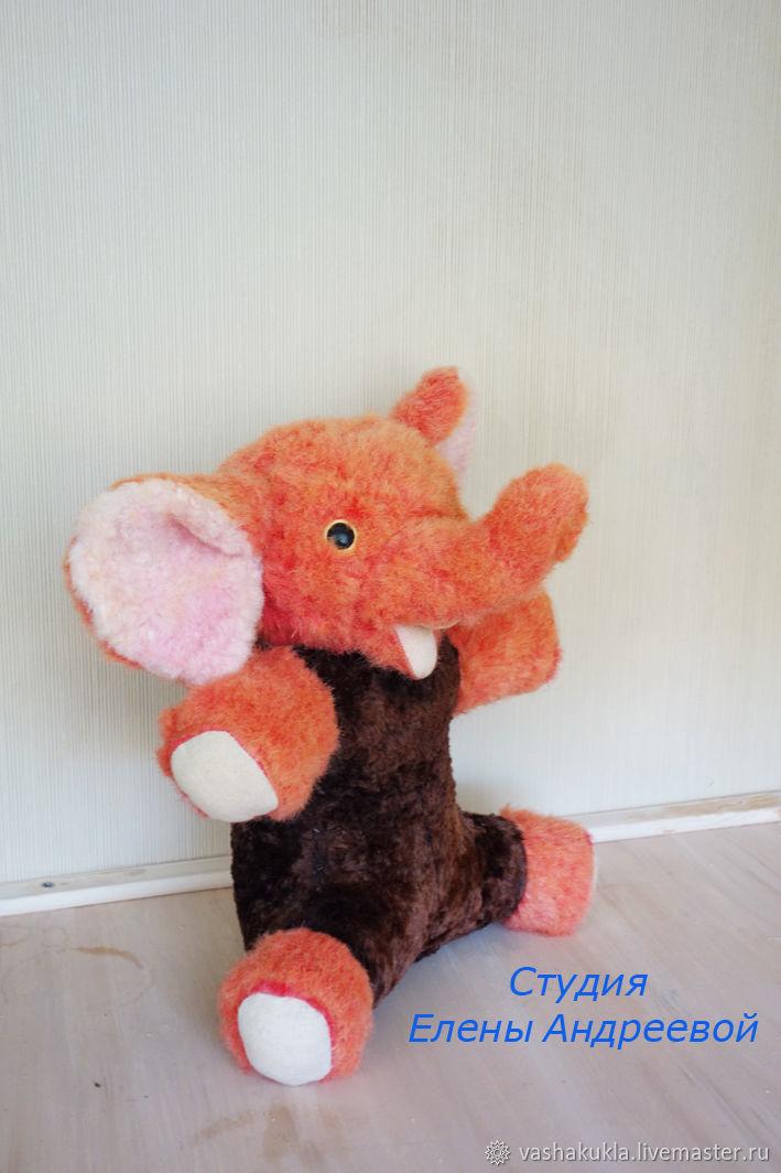 Реставрация. Ярмарка Мастеров - ручная работа. Купить Винтаж: Реставрация игрушки. Розовый Слон. Handmade. Слон, розовый, реставрация игрушки