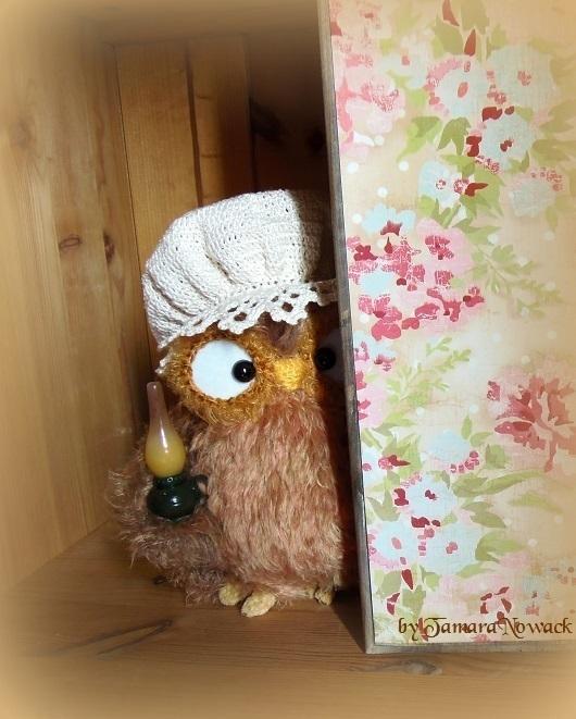 Игрушки животные, ручной работы. Ярмарка Мастеров - ручная работа. Купить Ночная сова Боннетта - вязаная интерьерная игрушка. Handmade.