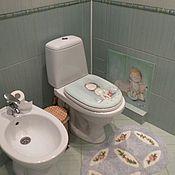 Роспись в детской ванной комнате:)