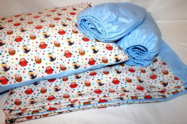 Комплект постельного белья  для овальной кроватки, Комплект белья в кроватку, Краснодар,  Фото №1