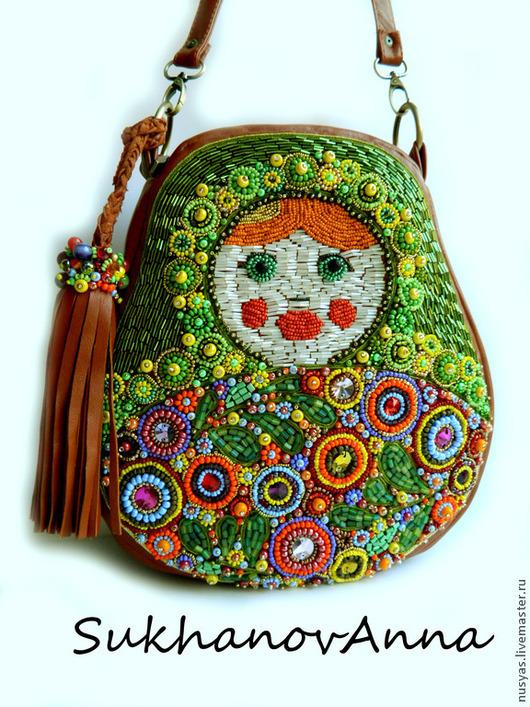 """Женские сумки ручной работы. Ярмарка Мастеров - ручная работа. Купить Сумка """"Матрёшка"""". Handmade. Рыжий, матрешка, Кожаная сумка"""