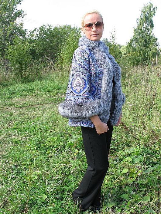 """Верхняя одежда ручной работы. Ярмарка Мастеров - ручная работа. Купить Куртка """" Русские узоры """" по мотивам. Handmade."""