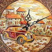 """Для дома и интерьера ручной работы. Ярмарка Мастеров - ручная работа Часы """"Старинные улочки"""". Handmade."""