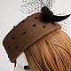 """Шляпы ручной работы. Заказать Шляпка-таблетка """"Табачная"""". Лидия Бондарева (Right Hats). Ярмарка Мастеров. Шляпка женская, шляпка"""