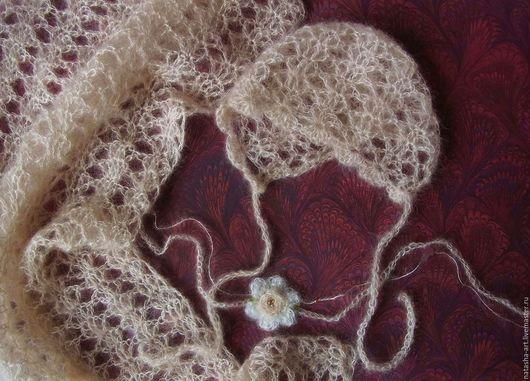 Шапки и шарфы ручной работы. Ярмарка Мастеров - ручная работа. Купить 3 цвета - Эмма - сет для фотосессии новорожденных. Handmade.