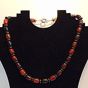 Украшения handmade. Livemaster - original item Beads made of natural stones agate and hematite. Handmade.