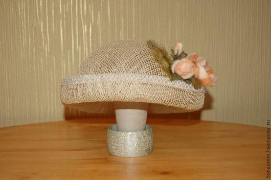 """Шляпы ручной работы. Ярмарка Мастеров - ручная работа. Купить Шляпка женская """"Rumba"""". Handmade. Бежевый, соломенная шляпка"""