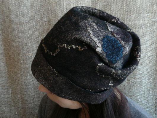 Шапки ручной работы. Ярмарка Мастеров - ручная работа. Купить Валяная шапочка. Handmade. Коричневый, купить шапку женскую