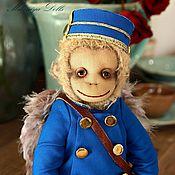Куклы и игрушки handmade. Livemaster - original item Friends Teddy. The author`s work.Monkey Finley.