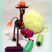 Куклы и игрушки ручной работы. Ярмарка Мастеров - ручная работа Миниатюрный жираф рыжик :). Handmade.