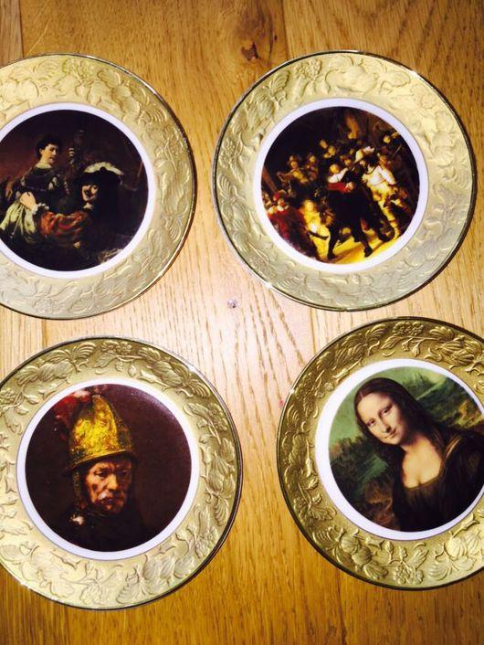 Винтажная посуда. Ярмарка Мастеров - ручная работа. Купить Пять винтажных немецких тарелочек фирмы Krautheim с золотым ободком. Handmade.