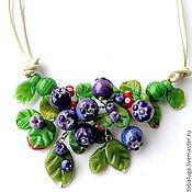 Украшения handmade. Livemaster - original item Necklace lampwork Blueberry mood. Handmade.