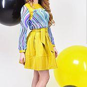 Одежда ручной работы. Ярмарка Мастеров - ручная работа Комплект  желтый Юбка +Блуза от TAIS FEKO коллекция ECO. Handmade.