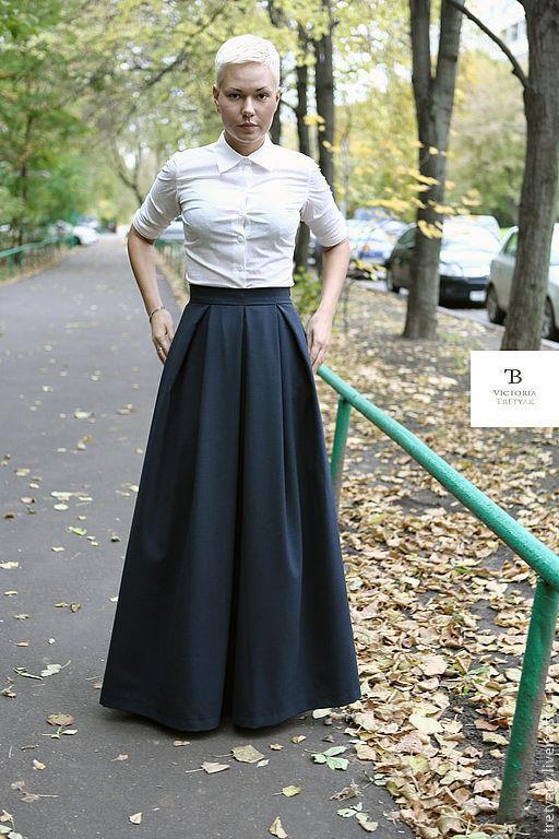 Длинные юбки в пол фото