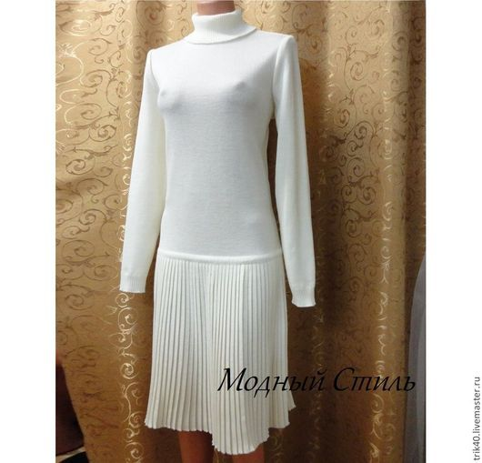 Платья ручной работы. Ярмарка Мастеров - ручная работа. Купить Платье с плиссе. Handmade. Белый, на заказ, белое платье