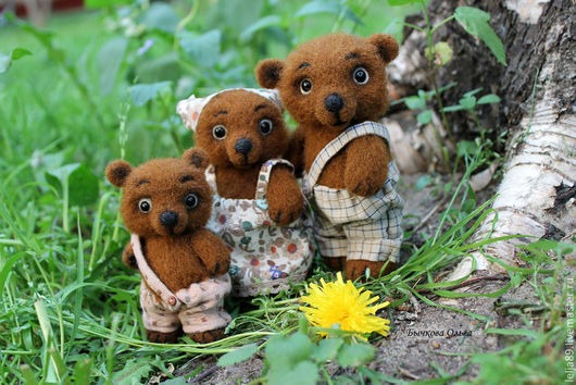 """Игрушки животные, ручной работы. Ярмарка Мастеров - ручная работа. Купить """"Три медведя"""". По мотивам сказки Л.Н. Толстого.. Handmade."""