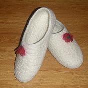 Обувь ручной работы. Ярмарка Мастеров - ручная работа Валяные тапочки , 40 размер. Handmade.
