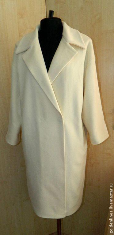 Верхняя одежда ручной работы. Ярмарка Мастеров - ручная работа. Купить пальто-оверсайз 3. Handmade. Белый, минимализм