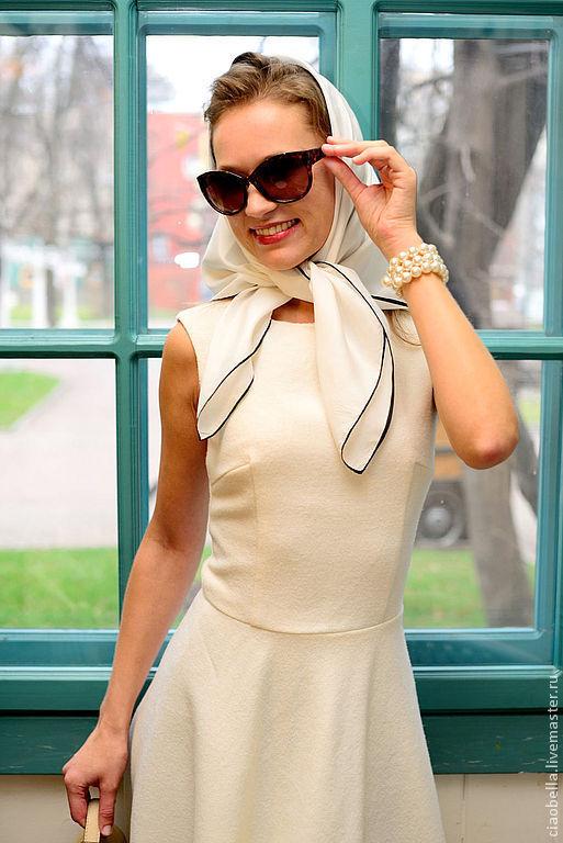 """Платья ручной работы. Ярмарка Мастеров - ручная работа. Купить Платье из шерсти """"Балерина"""". Handmade. Белый, платье миди"""