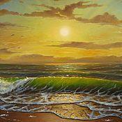 """Картины и панно ручной работы. Ярмарка Мастеров - ручная работа Картина с морем """"Мелодия рассвета"""". Handmade."""