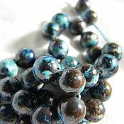 Материалы для творчества handmade. Livemaster - original item Chrysocolla natural bead 8 mm. Handmade.