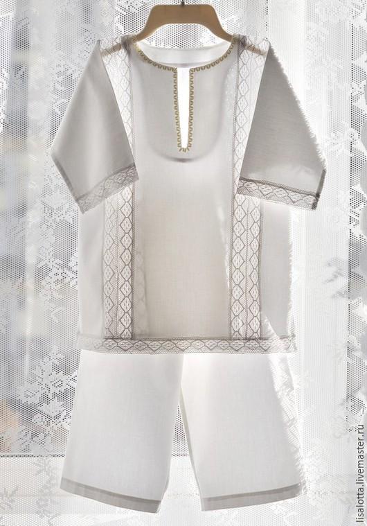 крестильный комплект, крестильная рубашка, одежда для крещения, крестильный набор