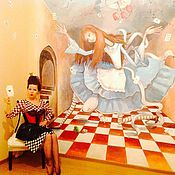Дизайн и реклама ручной работы. Ярмарка Мастеров - ручная работа Роспись стен в гардеробной. Handmade.