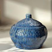 """Посуда ручной работы. Ярмарка Мастеров - ручная работа Банка """"синее утро"""". Handmade."""
