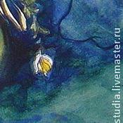 Картины и панно ручной работы. Ярмарка Мастеров - ручная работа Хризантемы.Феи в цветах.Авторский принт на холсте. Handmade.
